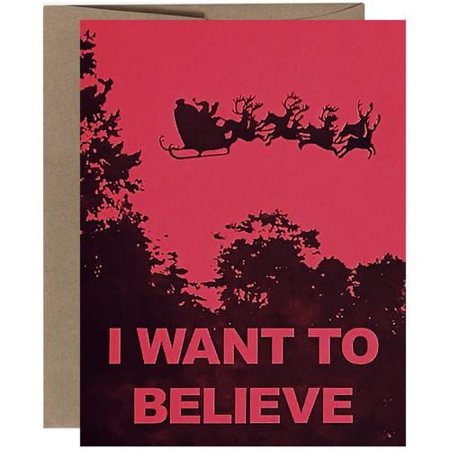 X-Files Santa Christmas Card