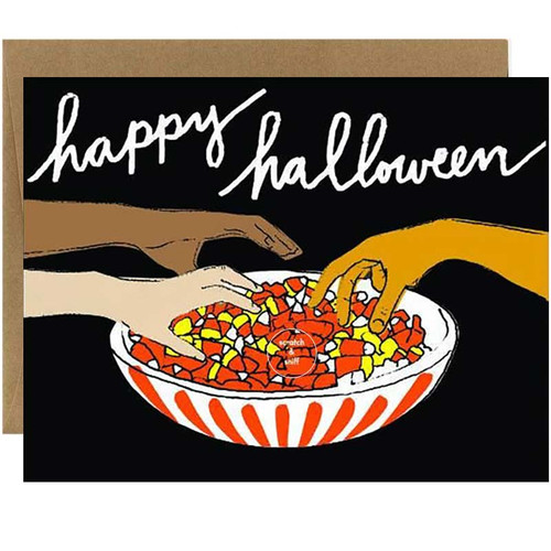 Scratch & Sniff Candy Corn Scented Halloween Card