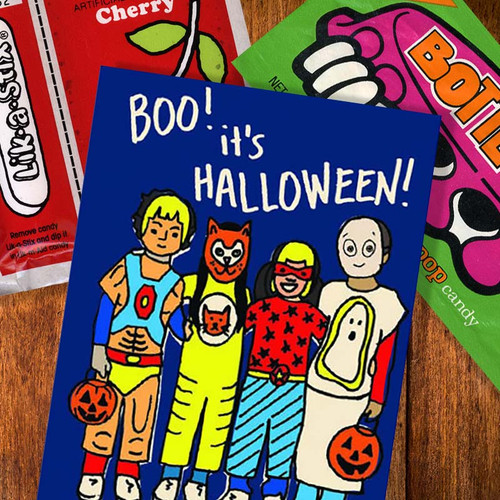 Retro Halloween Costume Smell Greeting Card