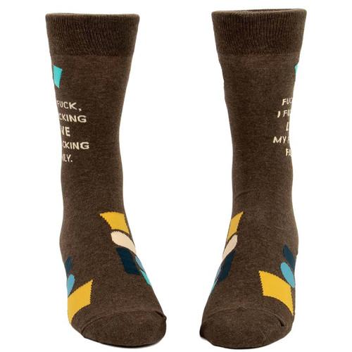 Blue Q I Love My F*cking Family Men's Socks