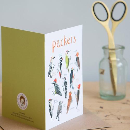 Peckers Greetings Card Sarah Edmonds Illustration