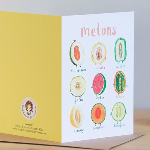 Sarah Edmonds Melons Pun Greeting Card