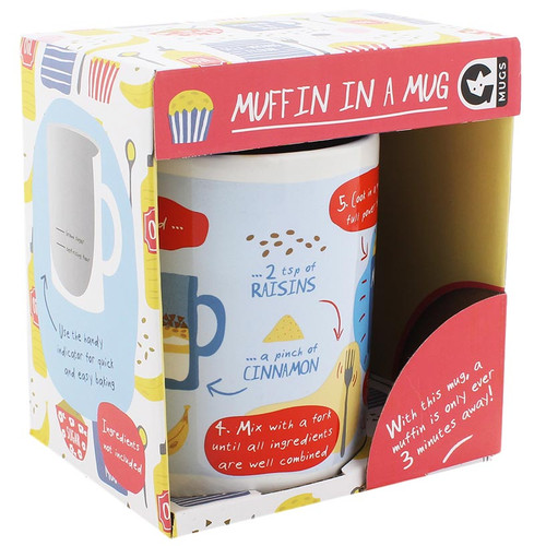 Mug With Cooking Instructions for Muffin
