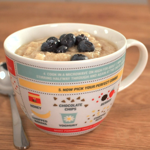 Perfect Oatmeal Instructions Mug by Ginger Fox