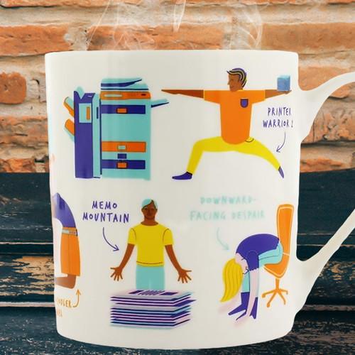Office Yoga Mug by Ginger Fox
