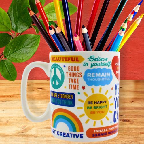 Colorful Affirmation Mug by Ginger Fox