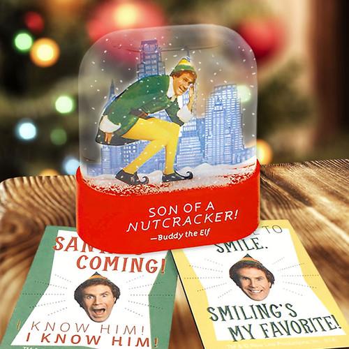 Buddy the Elf Snow Globe +  Magnets