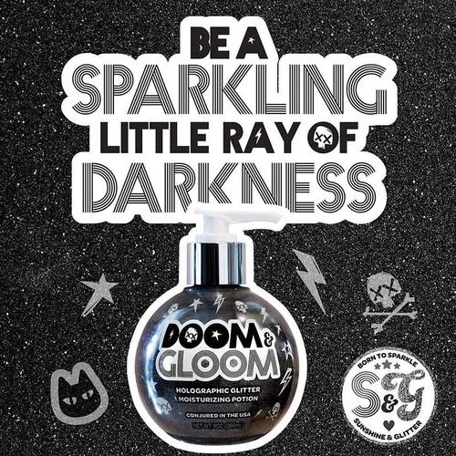 Sunshine + Glitter's Doom & Gloom Holographic Glitter Moisturizing Potion