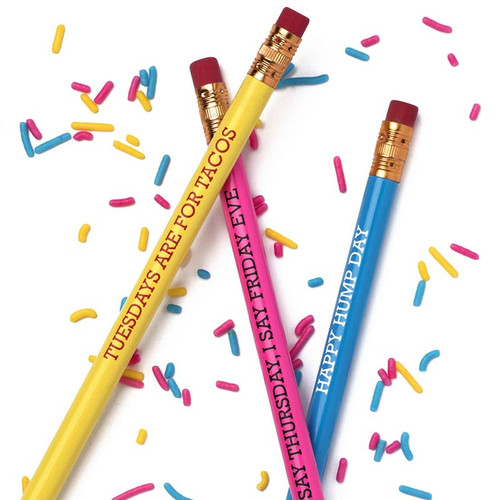 Days of the week pencil set