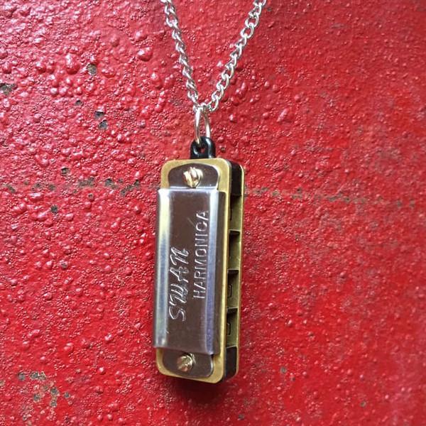 Mini Genuine Harmonica Necklace