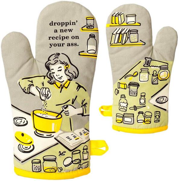 Droppin' A Recipe On Your Ass BlueQ Oven Mitt