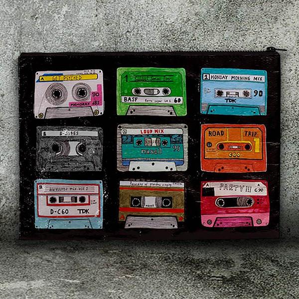 Retro Mixtape Jumbo Pouch