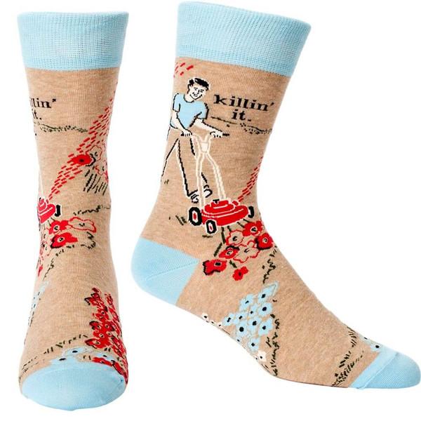 Killin' It Men's Blue Q Socks
