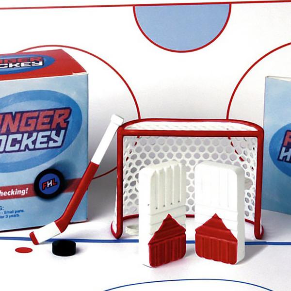 Finger Hockey Goalie and Shooter Game