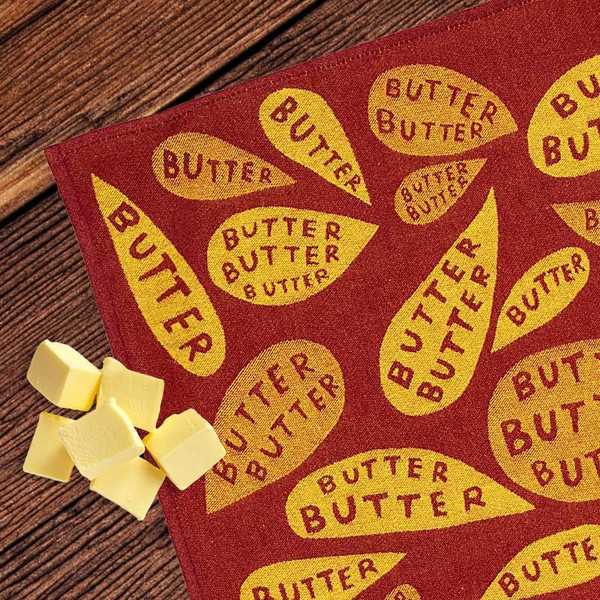 Butter Butter Butter Woven Dish Towel