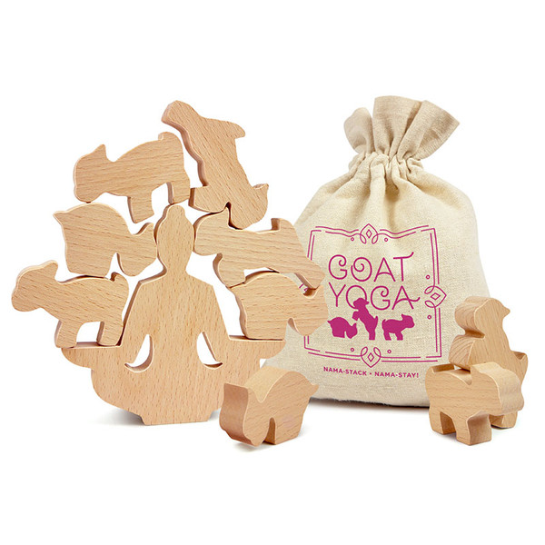Meditate with our Goat Yoga Stacking Game