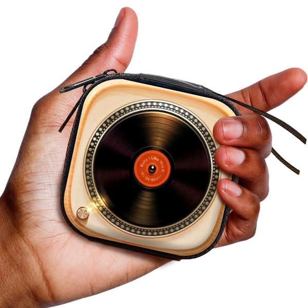 Record Player Headphone + Change Purse