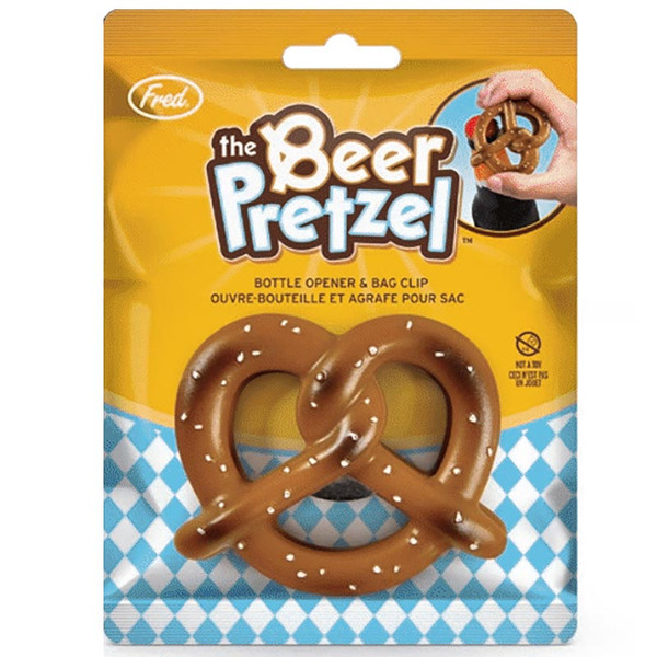 Beer Pretzel Bottle Opener + Chip Clip