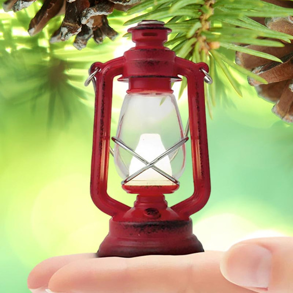 The Little Lantern - Antique Styled Red Lantern Camping Light