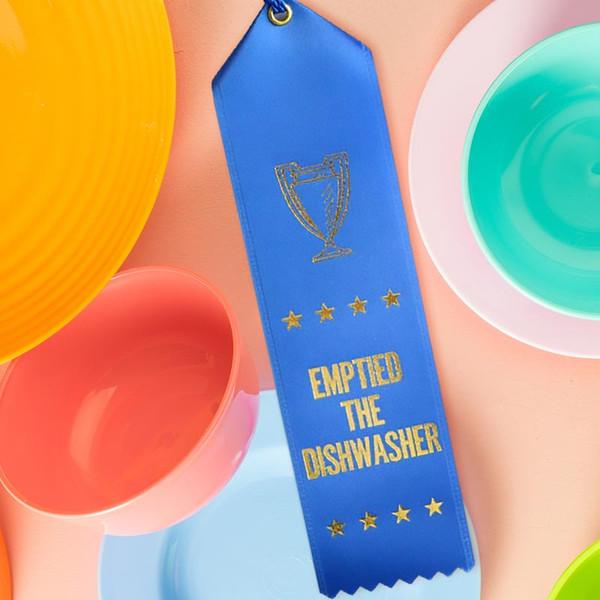 Emptied the Dishwasher Award Ribbon