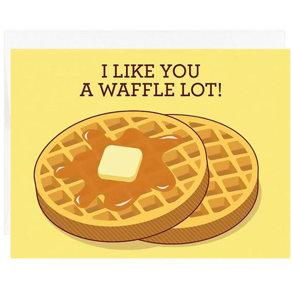 I Like You a Waffle Lot Card
