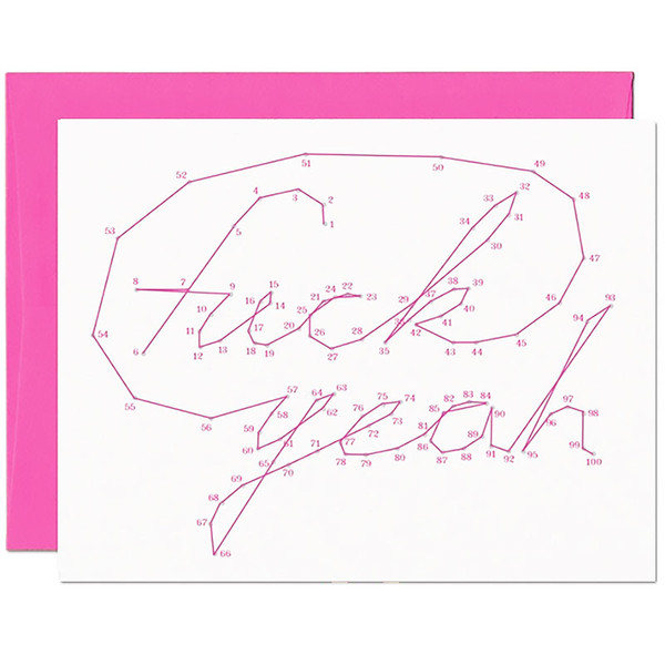 Connect The Dots Fuck Yeah Card