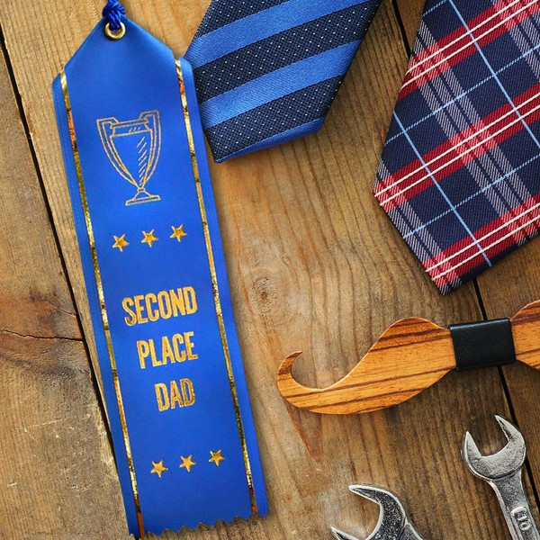 Second Place Dad Ribbon for Father's Day