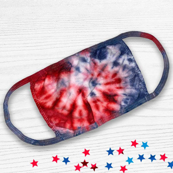 Tie Dye Patriotic Soft Touch Face Mask - Buy Now