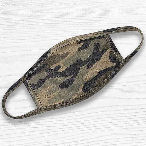 Soft Touch Camo Face Mask