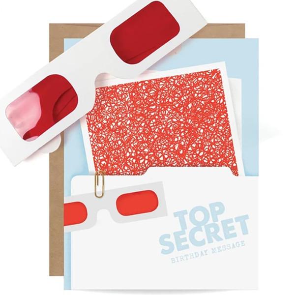 Top Secret File Decoder Birthday Card