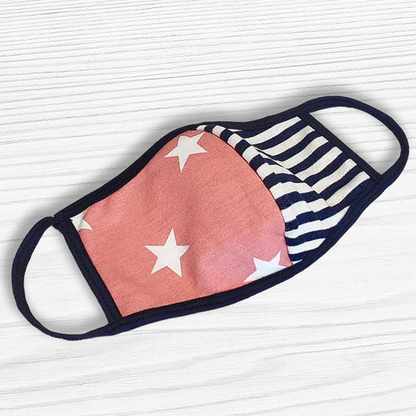 Pretty Pastel Stars + Stripes Face Mask - Buy Online Now