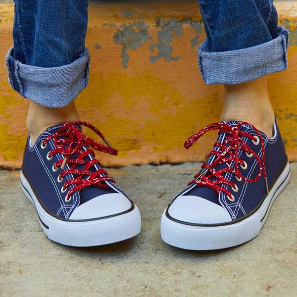 Retro Red Classic Bandana Shoelaces
