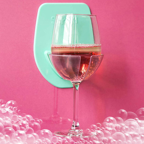 Sipski Bath + Shower Wine Holder