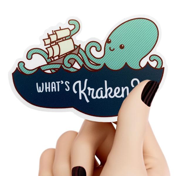 What's Kraken Sticker Octopus Pun