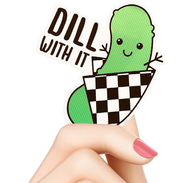 Dill With It Pickle Sticker