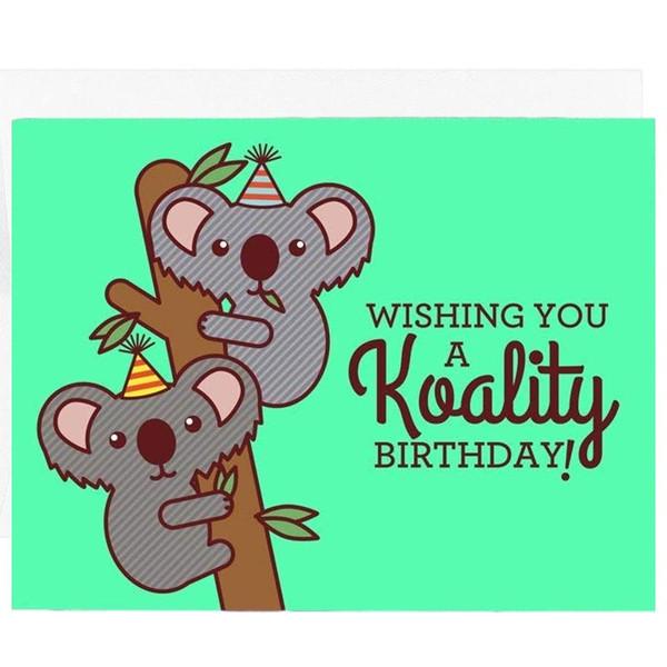 Koality Birthday Koala Card