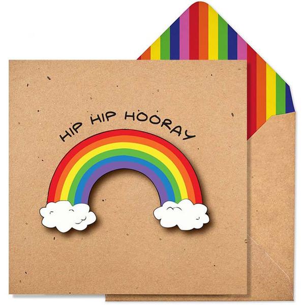Hip Hip Hooray Rainbow Greeting Card by Tache