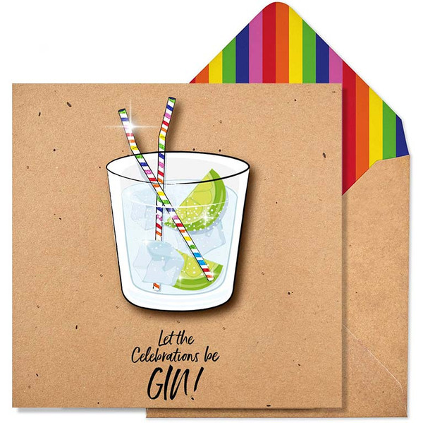 Funny Birthday Card   Let The Celebrations Be Gin