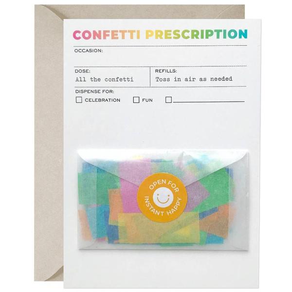 Confetti Prescription Greeting Card
