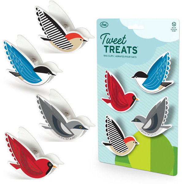 Fred Tweet Treats Bag Clips Birds