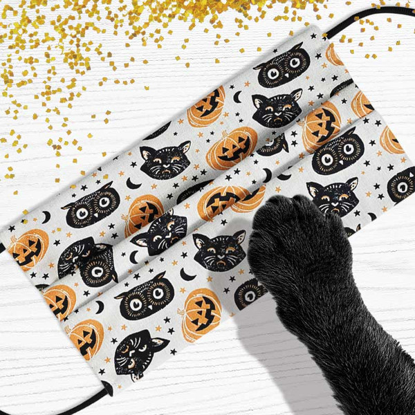 Vintage Scaredy Cat Head Face Mask