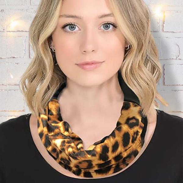 Leopard Print Neck Gaiter Scarf