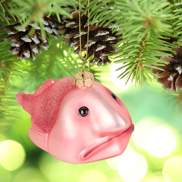 Blobfish Christmas Tree Ornament by Archie Mphee