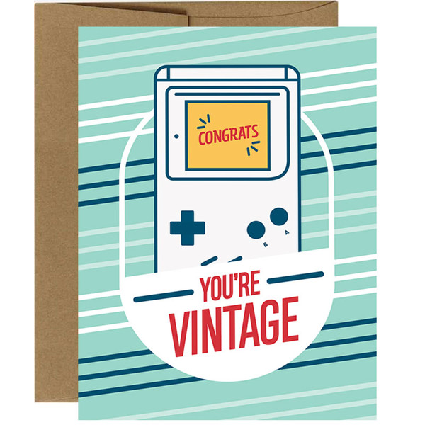 You're Vintage Video Game Birthday Card