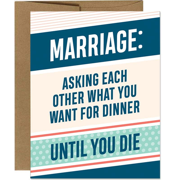 Funny Marriage Anniversary / I Love You Greeting Card