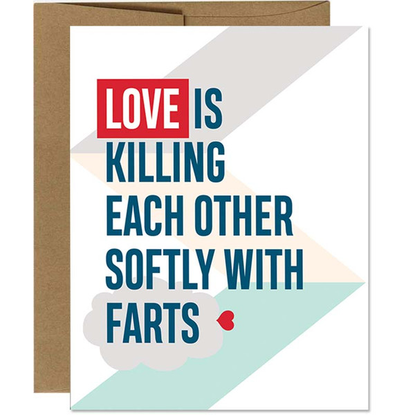 Funny Fart - I Love You Card