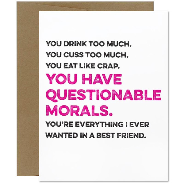 You Drink Too Much.  Cuss Too Much Greeting Card