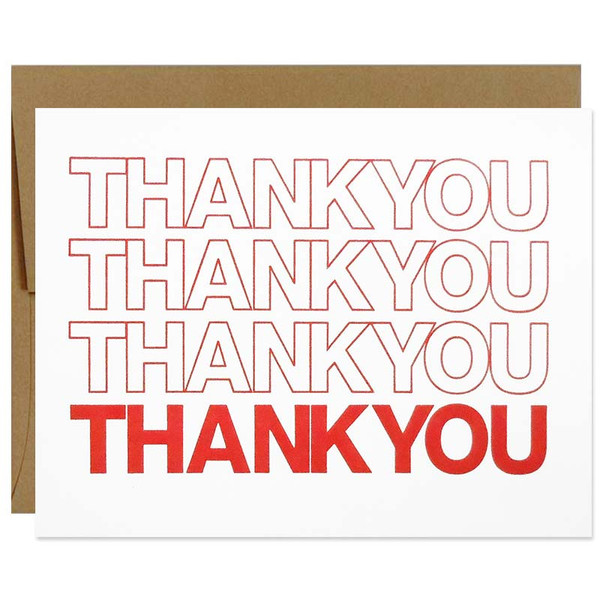 Thank You Plastic Bag Greeting Card