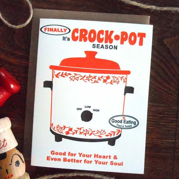 Finally It's Crock-Pot Season Christmas Holiday Card