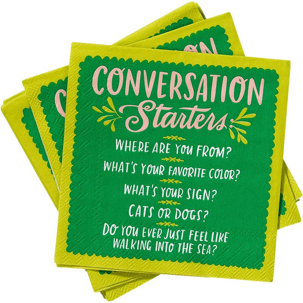 Conversation Starters Cocktail Napkins